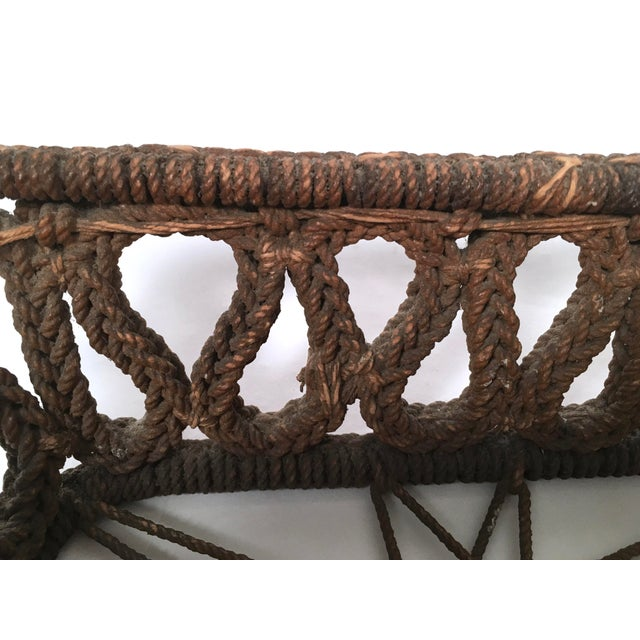 Rope 19th Century Sailor Made Ropework Basket For Sale - Image 7 of 10