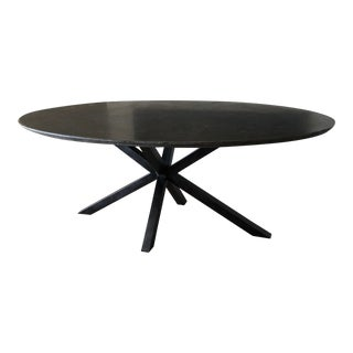 Transitional Arhaus Black Dining Table For Sale