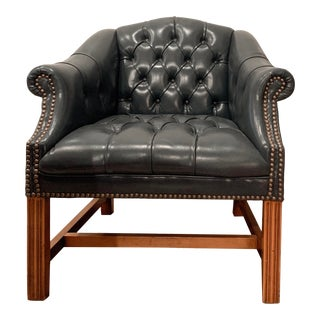 Vintage Hancock & Moore Club Chair For Sale