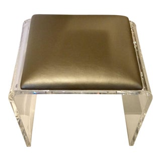 Interlude Mira Acrylic & Leather Stool