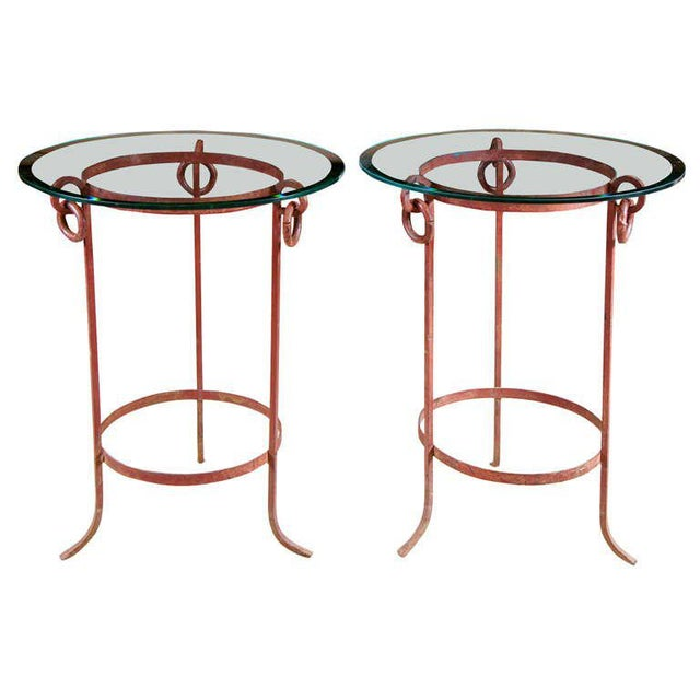 Glass Wrought Iron End Tables - A Pair For Sale - Image 7 of 7