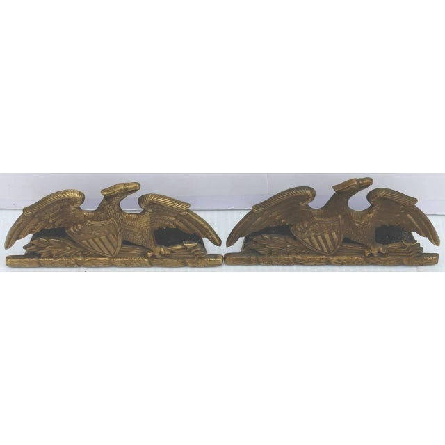 Brass Patriotic Eagle Bookends For Sale In Los Angeles - Image 6 of 9