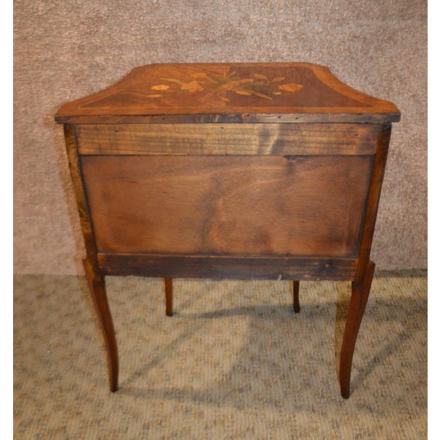 Antique French Inlaid Rosewood Two Drawer Small Chest - Image 3 of 11