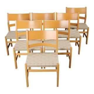 Danish Hans J. Wegner Koldinghus for GETAMA Dining Chairs - Set of 7 For Sale