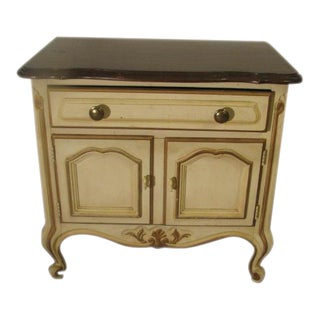 Drexel French Provincial Antique White Night Stand For Sale