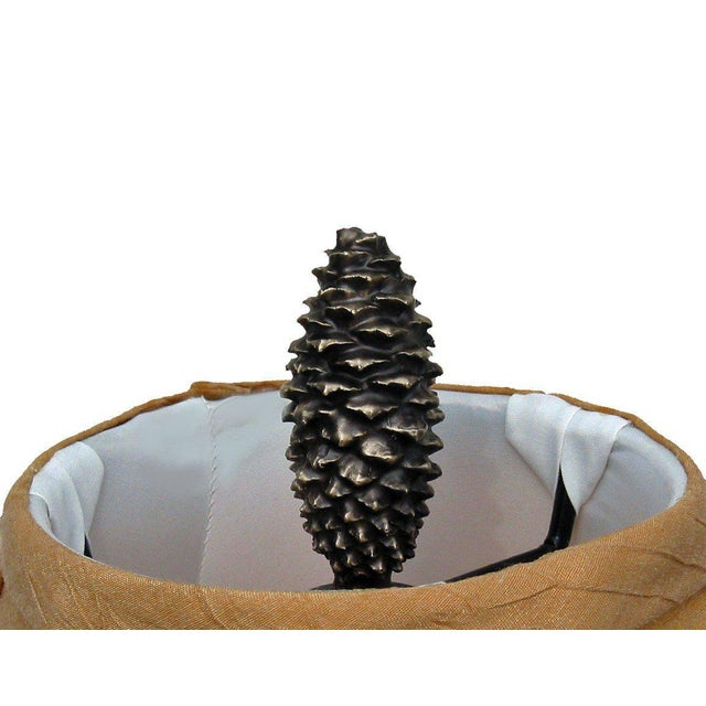 Black Forest XL Lodgepole Closed Cone Finial, Traditional Patina For Sale - Image 3 of 4