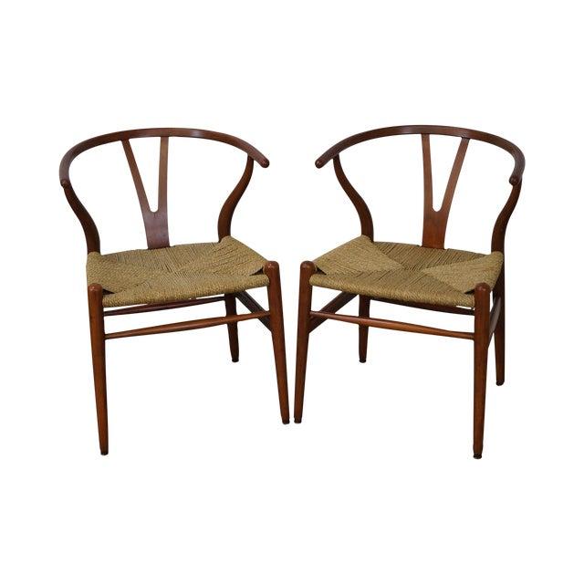 Hans Wegner Carl Hansen & Son Danish Modern Wishbone Chairs- A Pair - Image 1 of 10