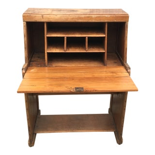 Vintage Danish Modern Teak Roll Top Desk