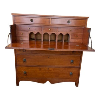 Antique Wooden Secretary Desk For Sale