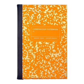 Marble Notebook in Orange For Sale
