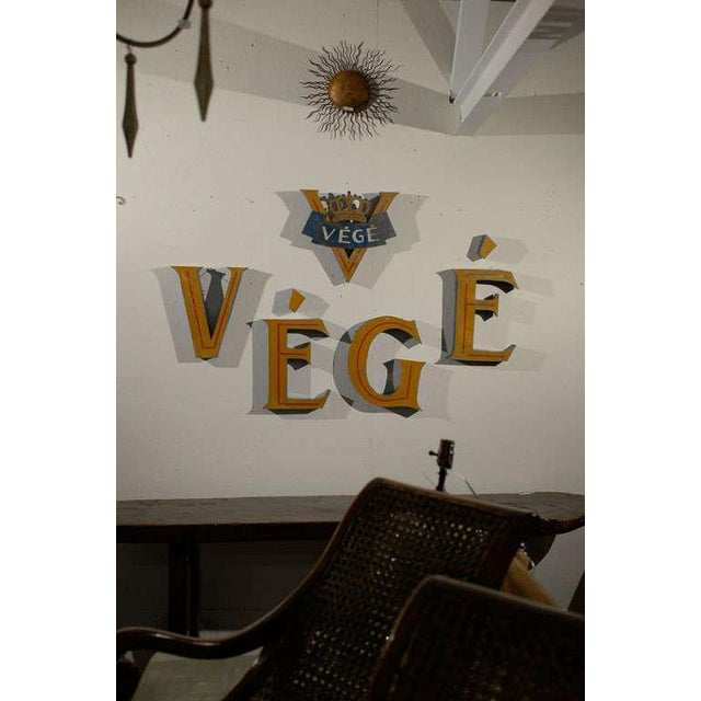 Vintage Belgian Tole Free Mounted Shop Sign For Sale - Image 10 of 11
