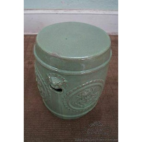 Vintage Chinese Celadon Garden Seat For Sale - Image 12 of 13
