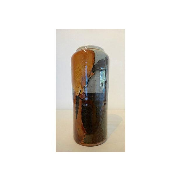 Modernist Abstract Studio Pottery Vase - Image 2 of 11