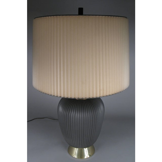 1950s Modern 1950's Ceramic Lamp by Gerald Thurston for Lightolier For Sale - Image 5 of 8