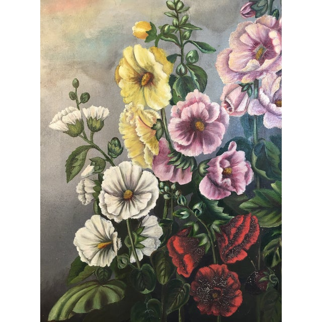 Impressionism Antique Floral Oil Painting For Sale - Image 3 of 11