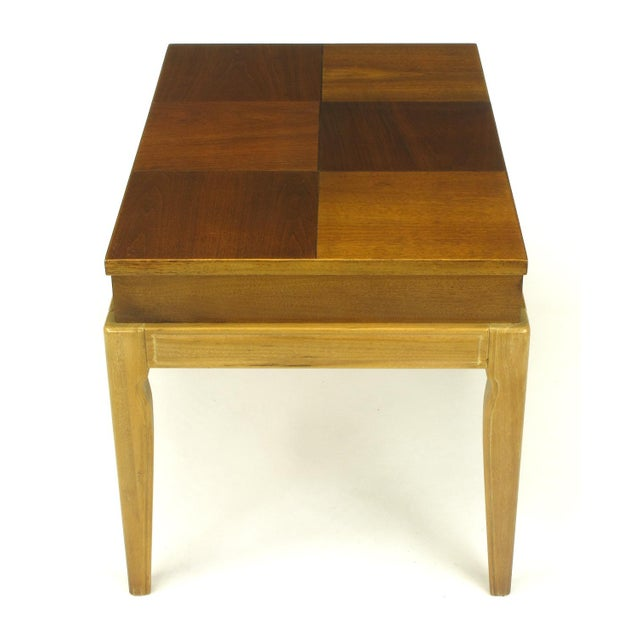 "John Van Koert ""Casa Del Sol"" Parquetry Walnut End Table with Opening Top For Sale In Chicago - Image 6 of 9"