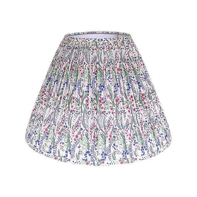 Pleated Floral Lamp Shade, Liberty London Fabric For Sale