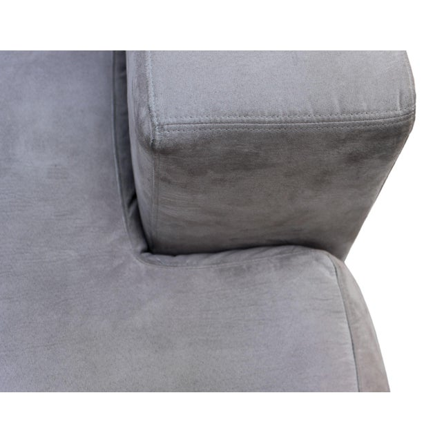 "2010s Danish BoConcept's ""Cenova"" Gray 3 Piece Sectional Sofa With Chaise Lounge For Sale - Image 5 of 7"
