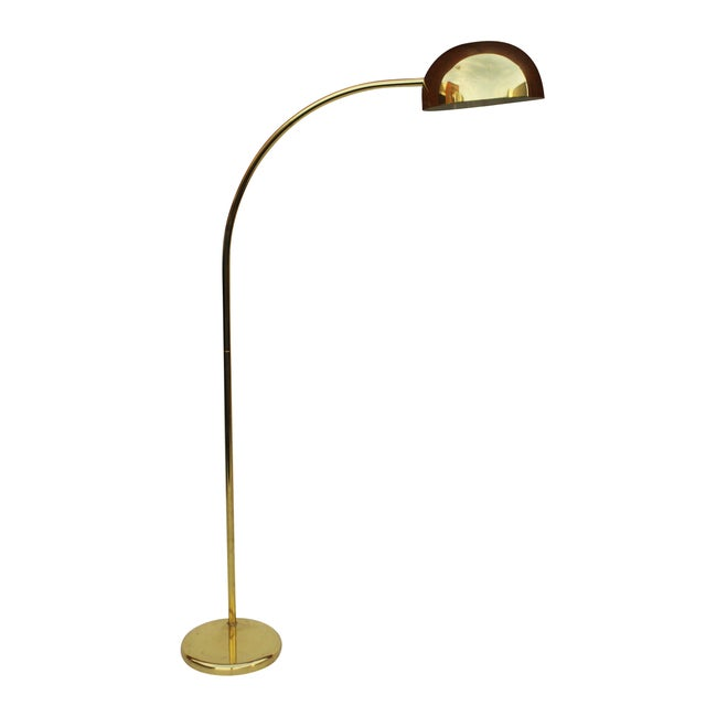 Brass Arc Floor Lamp - Image 4 of 9
