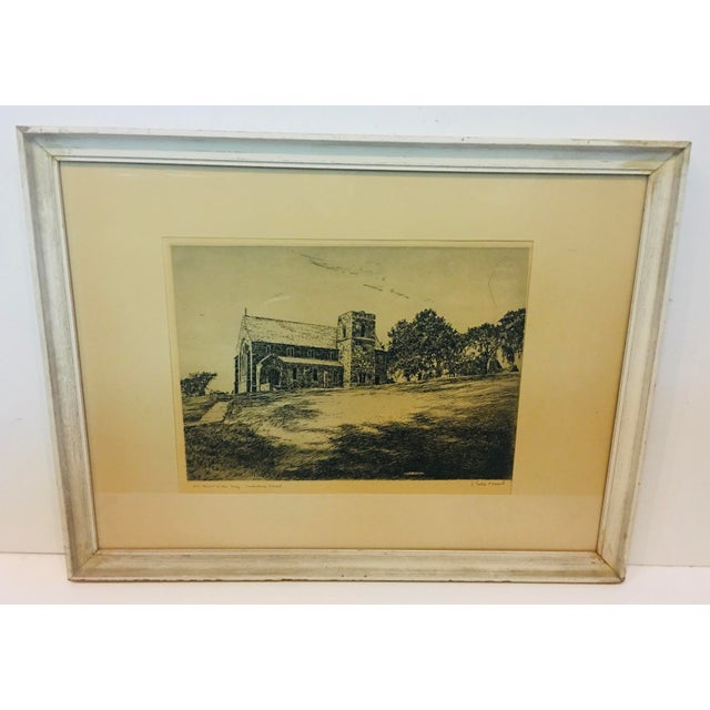 Vintage Canterbury School Chapel Etching by Philip Kappel For Sale - Image 13 of 13