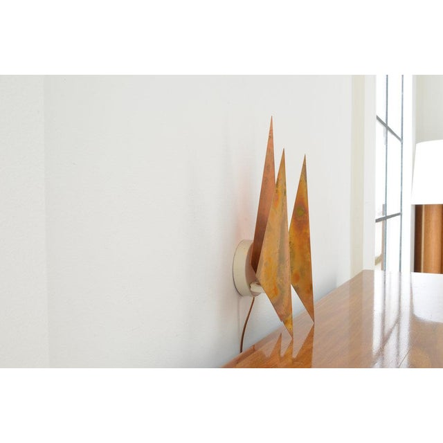 Danish Modern Vintage Svend Aage Holm Sørensen Copper Wall Sconce For Sale - Image 3 of 4