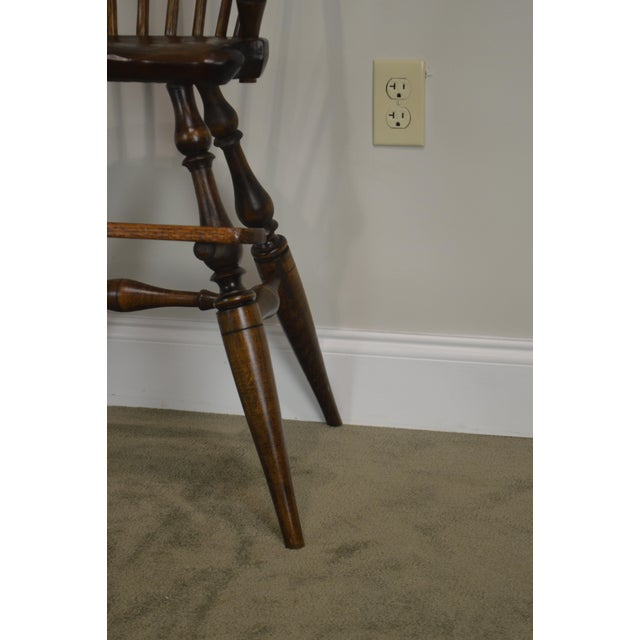 Brown Windsor Style Childs Youth Arm Chair by K. Malone (18th Century Reproduction) For Sale - Image 8 of 13