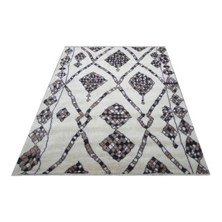 """Pasargad N Y Genuine Fine Moroccan Hand-Knotted Rug - 6′4"""" × 9′"""