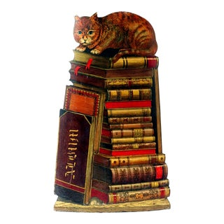 Piero Fornasetti Cat & Books Umbrella Stand, 1955.