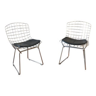 Children's Chrome Bertoia Side Chairs by Knoll - a Pair