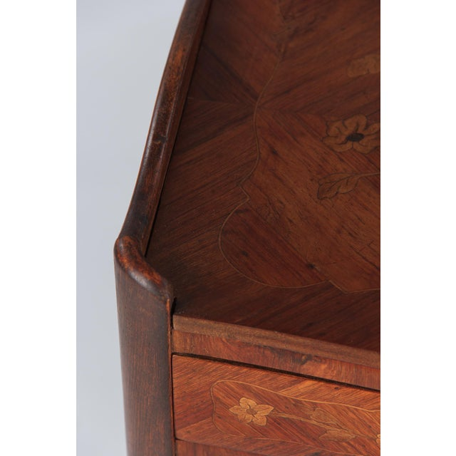 20th Century Louis XV Marquetry Bedside Chest of Drawers For Sale - Image 12 of 13
