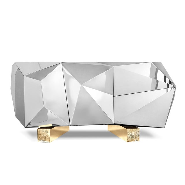 Contemporary Diamond Pyrite Sideboard From Covet Paris For Sale - Image 3 of 3