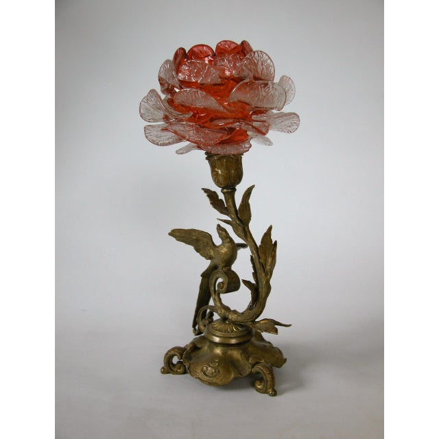 19th C. French Gilded Bronze & Glass Epergne - Image 8 of 8