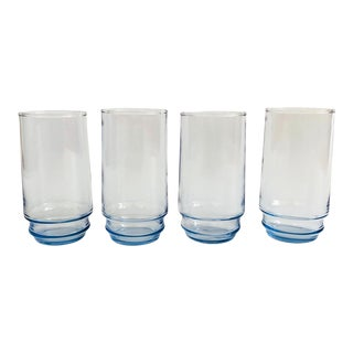 Vintage Periwinkle Tall Tumblers - Set of 4 For Sale