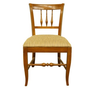 Late 20th Century Vintage Drexel Heritage Country French Provincial Dining Side Chair For Sale