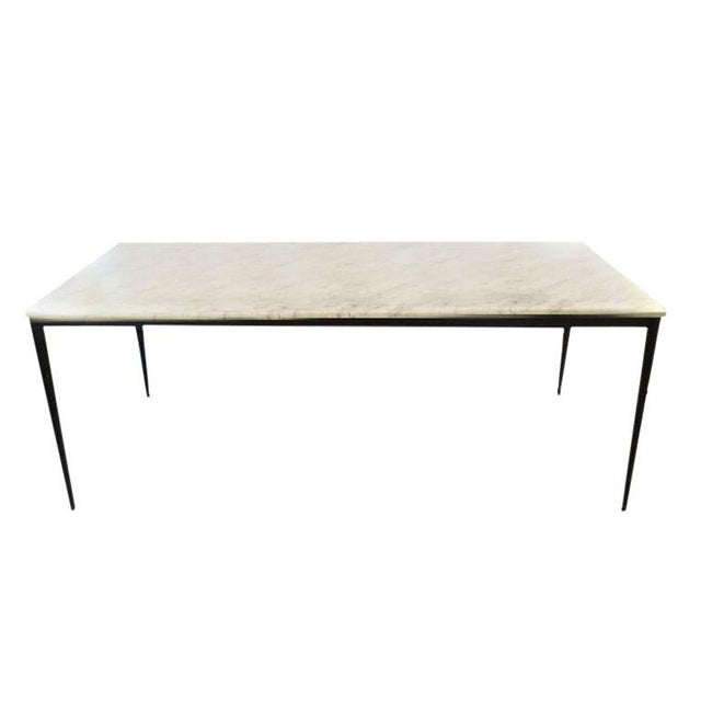 Metal Marble Dining Table For Sale - Image 7 of 7