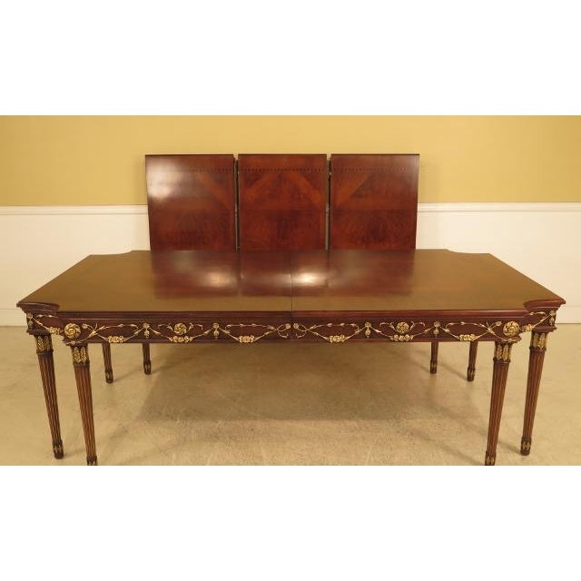 EJ VICTOR Regency Walnut 8 Leg Dining Room Table Age: Approx: 15 Years Old Details: Inlaid Top High Quality Construction...