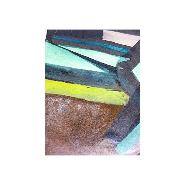 Paint Original Abstract Expressionist Gouache Painting For Sale - Image 7 of 7
