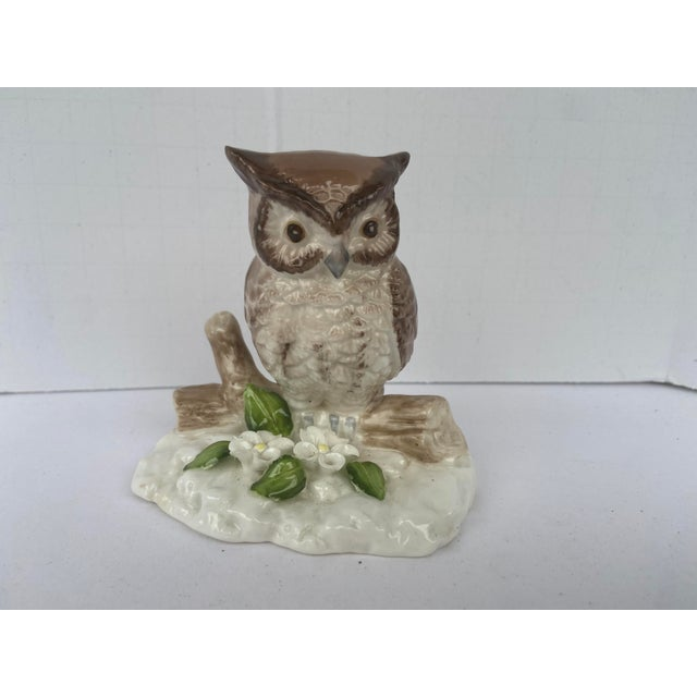 Mid Century Bone China Owl Figurine For Sale - Image 9 of 9
