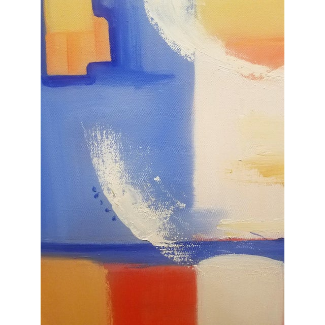 """Abstract Abstract Modern """"City Wind"""" Oil Painting by Christine Frisbee For Sale - Image 3 of 7"""