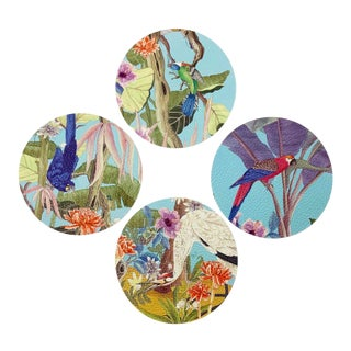 Palm Beach Paradise by Allison Cosmos Placemats - Set of 4 For Sale