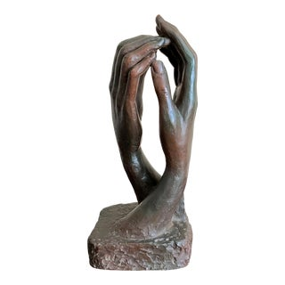 """1961 Austin Productions """"The Cathedral"""" Rodin Hands Sculpture For Sale"""