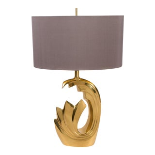 Brass Lamp by Pierre Cardin, 1970's For Sale