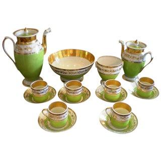 Set of Porcelain De Paris Coffee & Tea Service For Sale