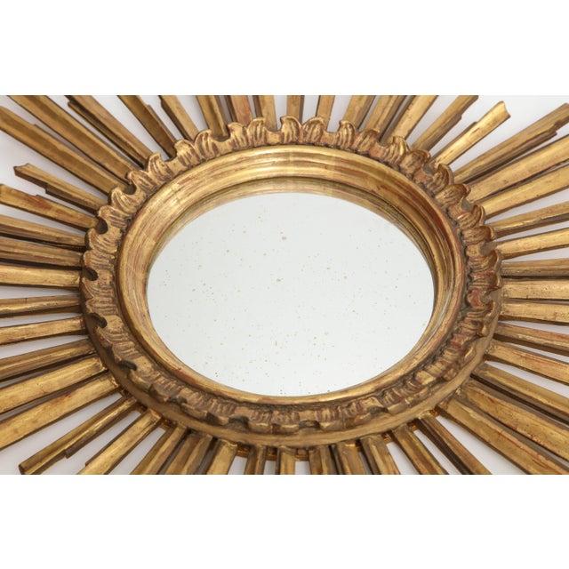Gold Giltwood Sunburst Mirror For Sale - Image 8 of 9