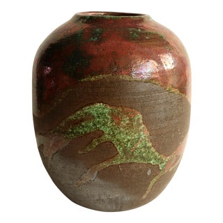 Kenny Kicklighter Hawaiian Pottery Vase with Ovoid Form For Sale
