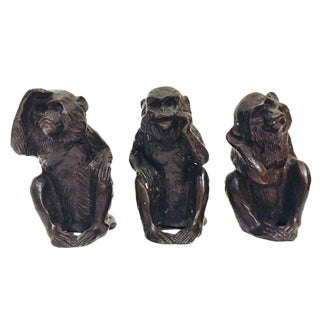 Vintage Wise Monkey Statues - Set of 3 For Sale