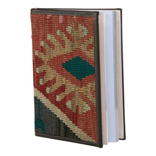 Rug & Relic Kilim Journal | Kilim Diary in Black, Taupe and Faded Red For Sale