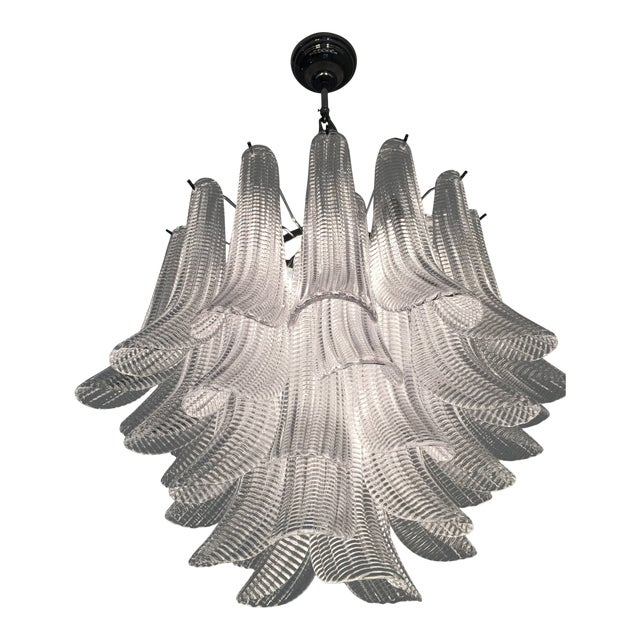 "Modern Murano Glass ""Selle"" Sputnik Chandelier For Sale"
