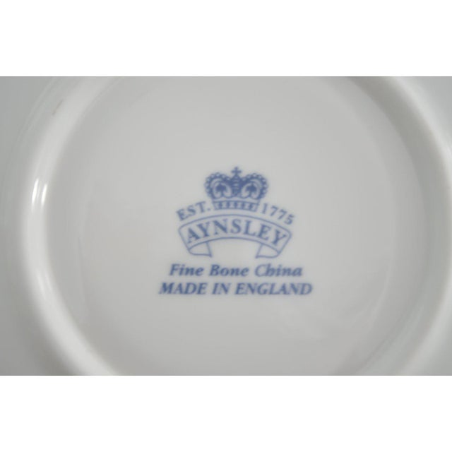 John Aynsley Aynsley English Cups & Saucers - Service for 6 For Sale - Image 4 of 5