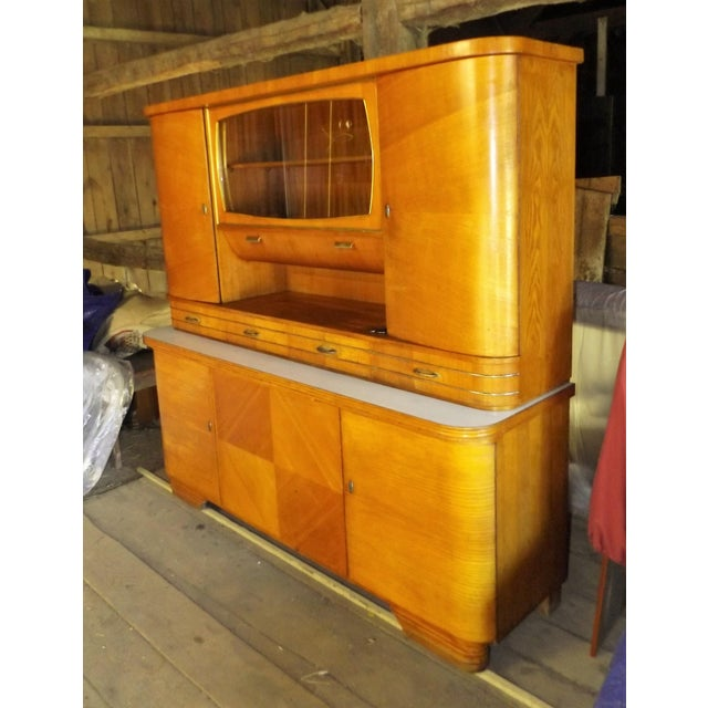 Mid-Century Modern Kitchen Hoosier Hutch - Image 3 of 11